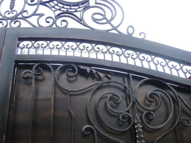 Entrance Gate in Antique Copper Finish