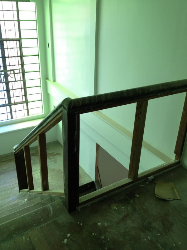 Old Stair turn into Glass Railing