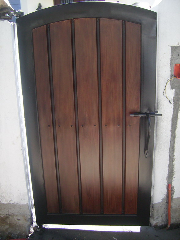 Pedestrian Gate in G.I. Sheet Bended and in Wood Finish.