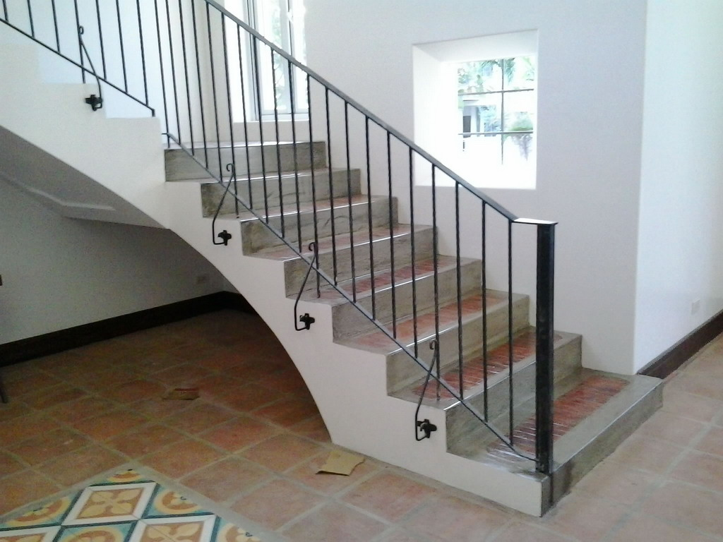 stair railing simple design glass railings philippines. Black Bedroom Furniture Sets. Home Design Ideas
