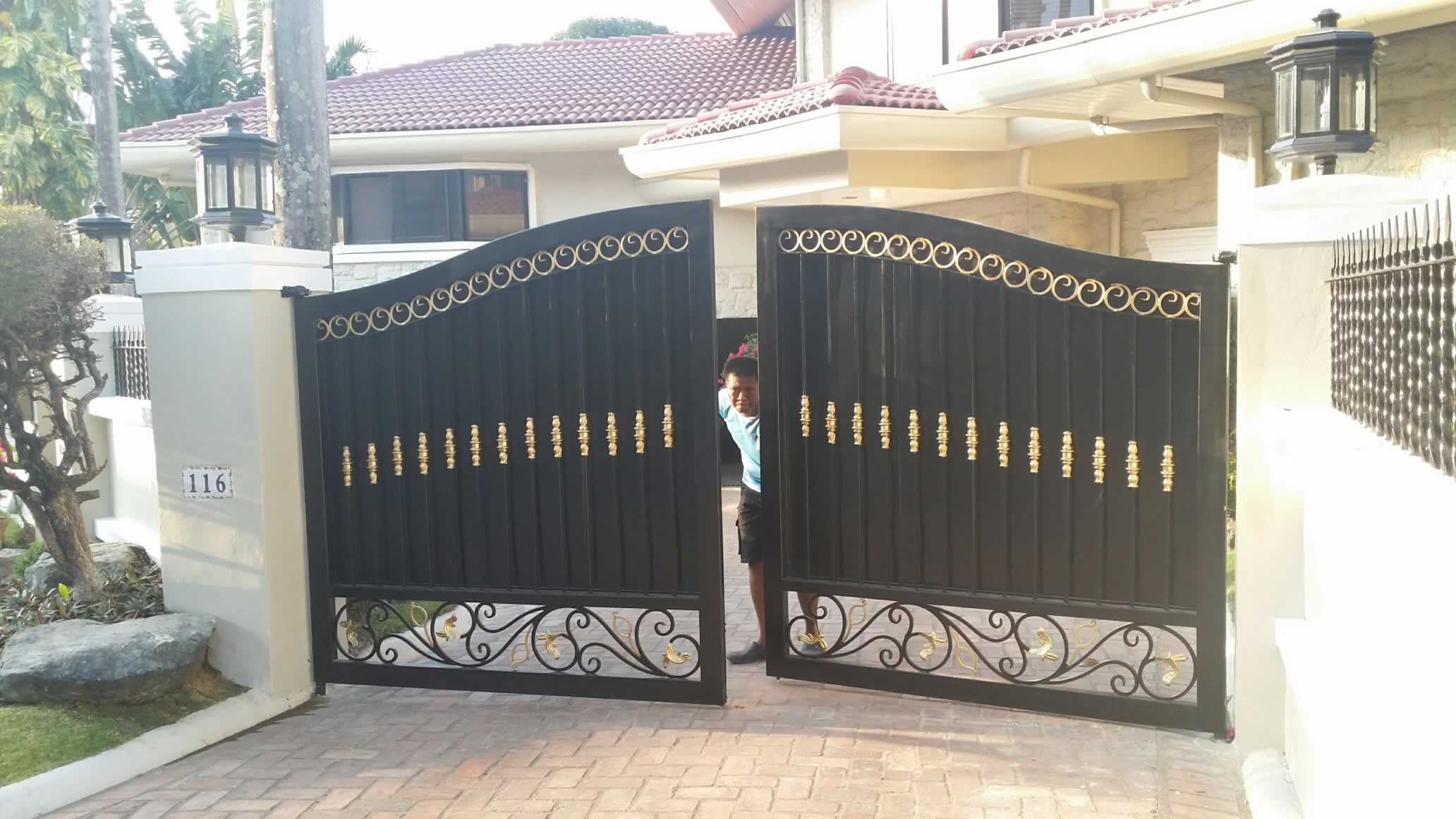 Entrance Gate Fabrication Glass Railings Philippines Glass Railing Tempered Glass Wrought Iron Railings Gates Grills Metal Fabrication Curved Glass
