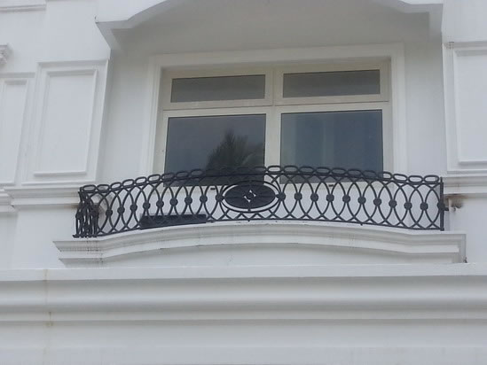 False Balcony Mediterranean Grills Glass Railings