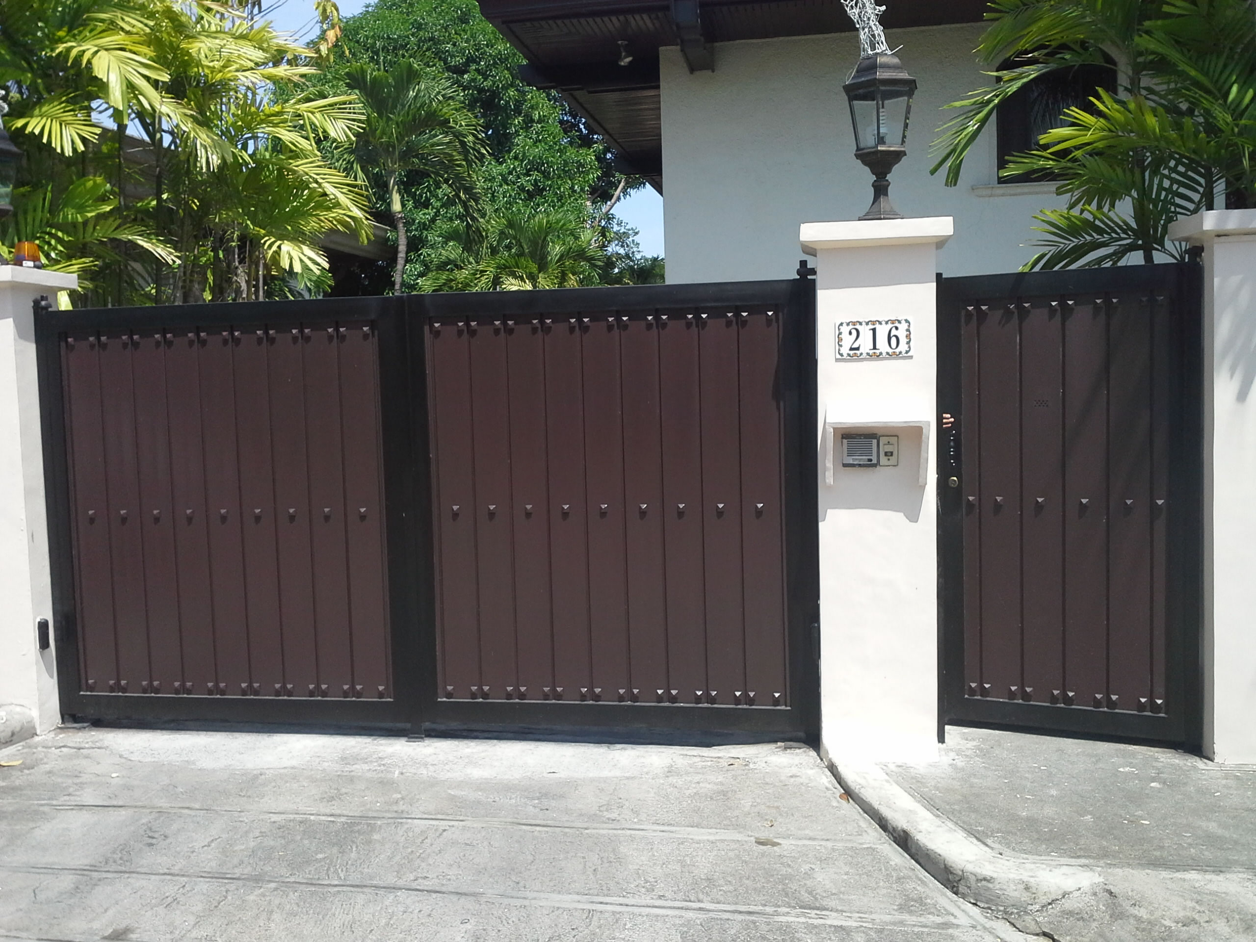 Modern Entrance Gate Glass Railings Philippines Glass