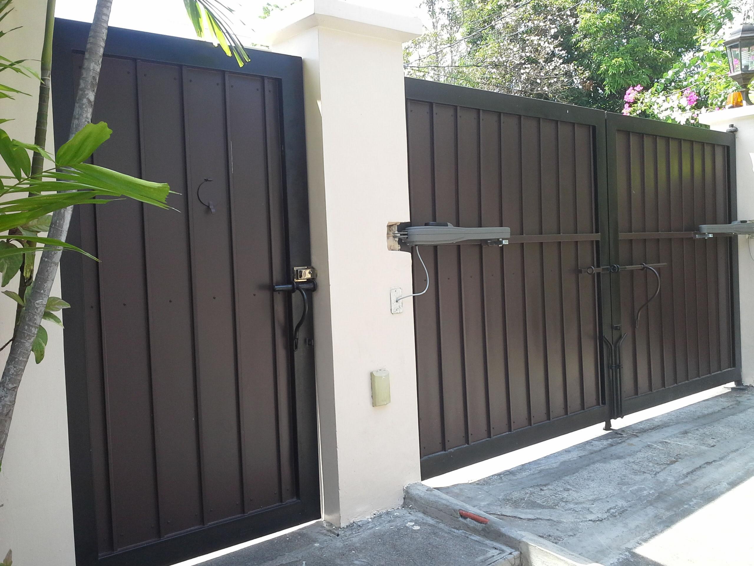 Modern entrance gate glass railings philippines