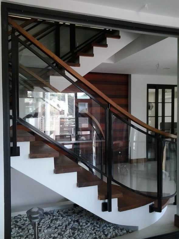 glass stair railing glass railings philippines glass railing tempered glass wrought iron. Black Bedroom Furniture Sets. Home Design Ideas